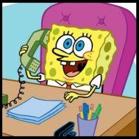 Bob Esponja - Habla por telefóno (Luis Carreño)