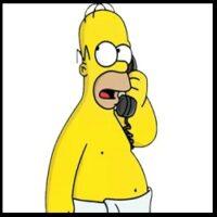 Homero Simpson - Habla por Teléfono (Humberto Velez)